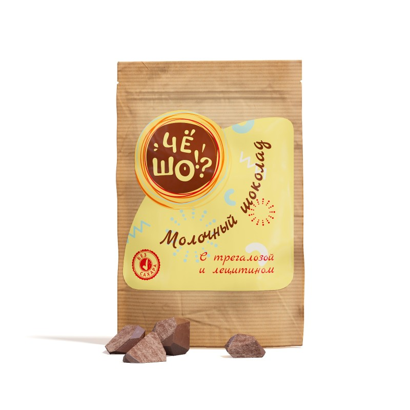 Шоколад ЧЁ ШО молочный, с трегалозой и лецитином, 100 г