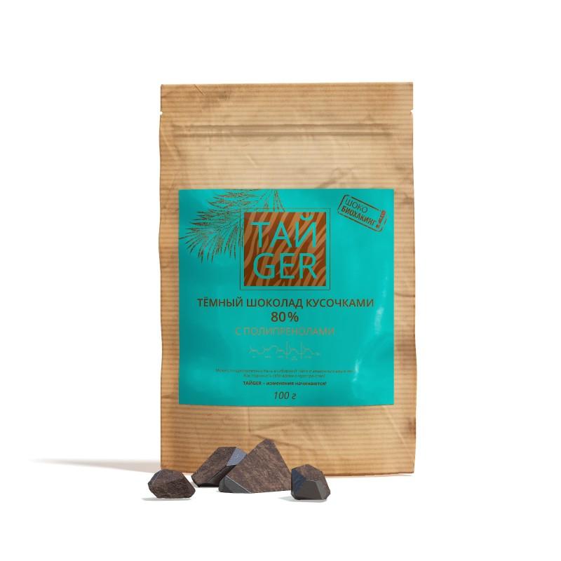 Шоколад ТАЙGER c полипренолами, без сахара, 100 г / 50 мг
