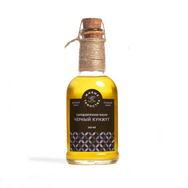 Сыродавленное масло Чёрный кунжут, 200 мл
