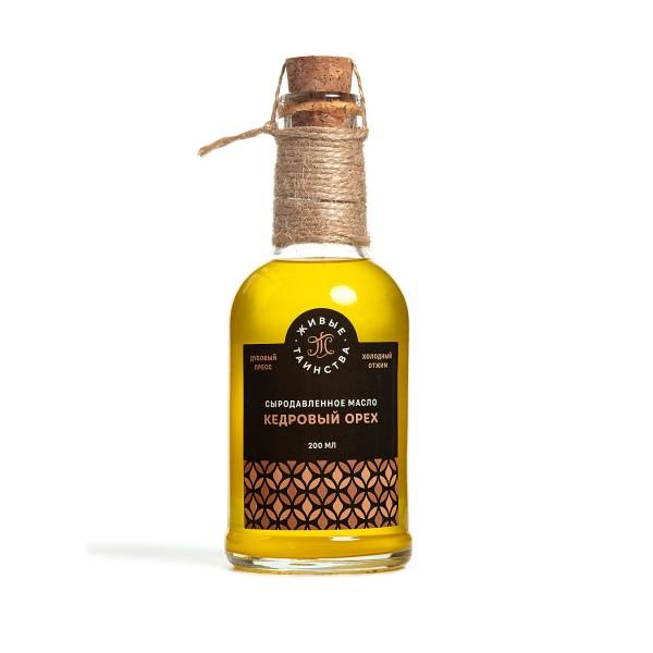 Сыродавленное масло Кедровый орех, 200 мл