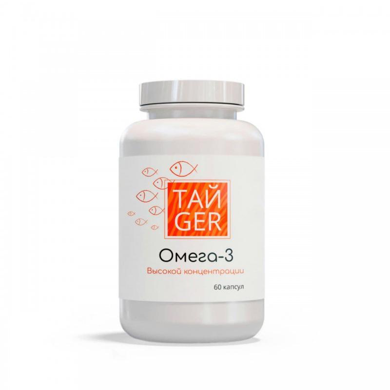 Купить Омега-3 ТАЙGER, 1620 мг, 60 капсул